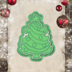Ingenious Jarv-arbol.png Download STL file CHRISTMAS TREE COOKIE CUTTER • Object to 3D print, KDASH