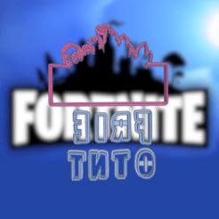 Download STL FORTNITE LOGO COOKIE CUTTER, KDASH