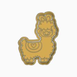 Tremendous Amberis-Densor.png Download STL file LLAMA,ALPACA COOKIE CUTTER • 3D printable object, KDASH