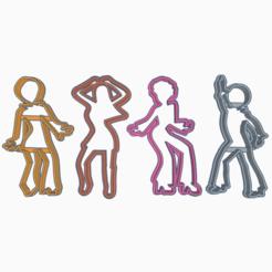 Ingenious Robo-Uusam(2).png Télécharger fichier STL DANCE RETRO COOKIE CUTTER X4 • Design pour impression 3D, KDASH