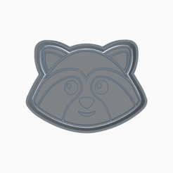 mapache.png Download STL file RACCOON NORDIC ANIMAL COOKIE CUTTER • Object to 3D print, KDASH