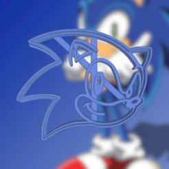 Impresiones 3D SONIC COOKIE CUTTER, KDASH