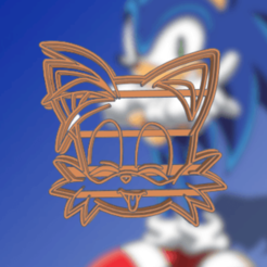 Spectacular colita.png Download STL file SONIC TAILS COOKIE CUTTER • 3D print template, KDASH