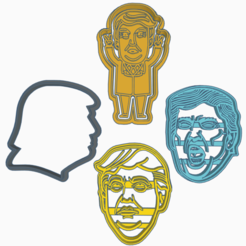 Exquisite Trug.png Télécharger fichier STL DONALD TRUMP KIT X4 COOKIE CUTTERS PRÉSIDENT • Design à imprimer en 3D, KDASH