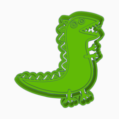 Terrific Hillar-dino.png Download STL file PEPPA PIG DINOSAUR GEORGE COOKIE CUTTER • 3D print design, KDASH
