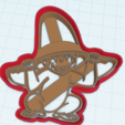 3D print model CURIOUS GEORGE WHIT HAT COOKIE CUTTER, KDASH