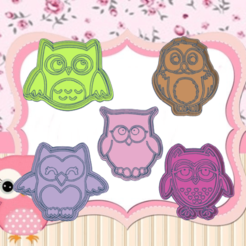 Daring Kup KIT.png Download STL file OWL KIT COOKIE CUTTER PACK X5 • 3D print object, KDASH