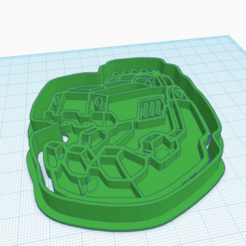 3D print files DINOTRUX COOKIE CUTTER, KDASH