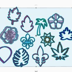 3D printer files FLOWERS x12 COOKIES CUTTERS, KDASH