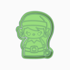 Brave Wolt.png Download STL file CHRISTMAS ELF GOBLIN COOKIE CUTTER • 3D print design, KDASH
