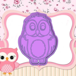 ojio.png Download STL file OWL COOKIE CUTTER • Object to 3D print, KDASH