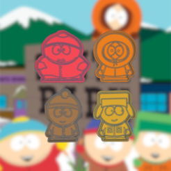 Download 3D printing models SOUTH PARK KIT X4 COOKIE CUTTER, KDASH
