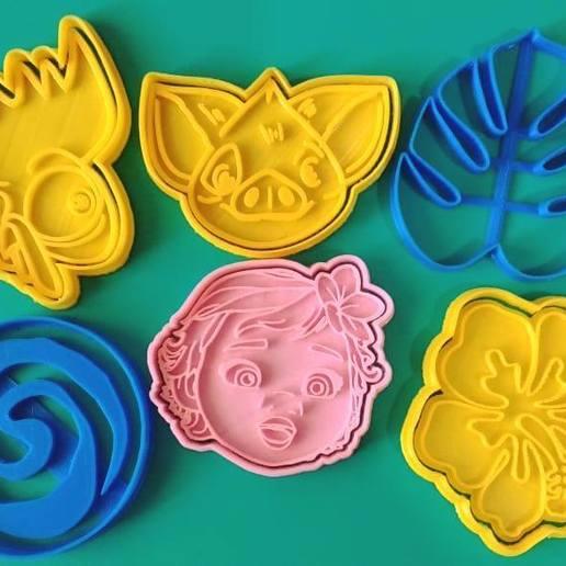 Download 3D printer model MOANA SET X6 KIT COOKIE CUTTERS, KDASH