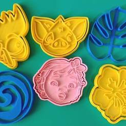 Download 3D printer model MOANA SET X6 KIT COOKIE CUTTERS, KDASH