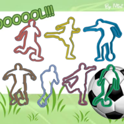 Funky Amur-Snaget.png Download STL file SOCCER PLAYERS FOOTBALL KIT X7 COOKIE CUTTER • 3D printer design, KDASH