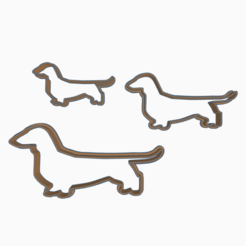 Descargar STL DACHSHUND COOKIE CUTTER, KDASH