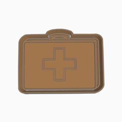 Doc.png Download STL file DOCTOR HOSPITAL BRIEFCASE COOKIE CUTTER • 3D printer object, KDASH