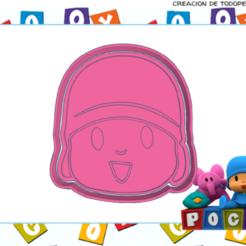 dwdq.png Download STL file POCOYO COOKIE CUTTER • 3D print template, KDASH
