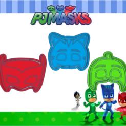 Shiny Habbi.png Télécharger fichier STL PJ MASK KIT X3 COOKIE CUTTER PACK • Plan pour imprimante 3D, KDASH