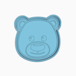 Dazzling oso.png Download STL file BEAR NORDIC ANIMAL COOKIE CUTTER • Model to 3D print, KDASH