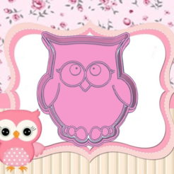 dda.png Download STL file OWL COOKIE CUTTER • Object to 3D print, KDASH