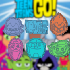 Bodacious Duup-kit.png Download STL file TEEN TITANS GO KIT X6 COOKIE CUTTER PACK • 3D print object, KDASH