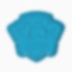 Descargar archivos STL PAW PATROL COOKIE CUTTER LOGO, KDASH