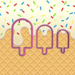 Sizzling Leelo-Habbi.png Download STL file ICE CREAM COOKIE CUTTER • 3D printable object, KDASH