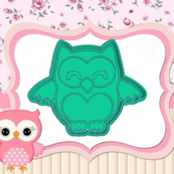 Daring Kup.png Download STL file OWL COOKIE CUTTER • Object to 3D print, KDASH