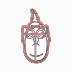 Swanky Albar-Duup.png Download STL file MY FAVORITE VILLAIN NEFARIOUS COOKIE CUTTER • 3D printable object, KDASH