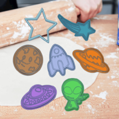 Neat Tumelo-Luulia kkit.png Download STL file SPACE ALIEN KIT X7 COOKIE CUTTER PACK • 3D printing template, KDASH