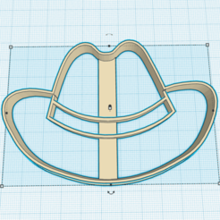 Download 3D printing templates SHERIFF HAT FOR COOKIE CUTTER, KDASH