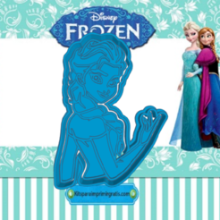 Sizzling Snicket-el.png Download STL file FROZEN ELSA COOKIE CUTTER • 3D print template, KDASH
