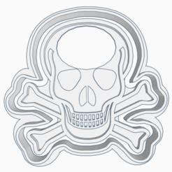 3D printer files SKULL COOKIE CUTTER, KDASH