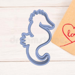Swanky Albar-Duup.png Download STL file SEAHORSE COOKIE CUTTER • Object to 3D print, KDASH