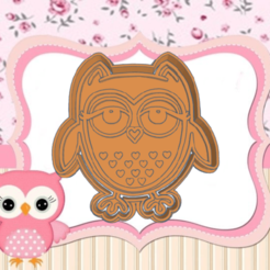 32.png Download STL file OWL COOKIE CUTTER • Object to 3D print, KDASH