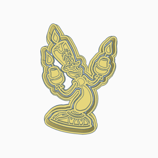 Impresiones 3D BEAUTY AND THE BEAST LUMIERE COOKIE CUTTER, KDASH