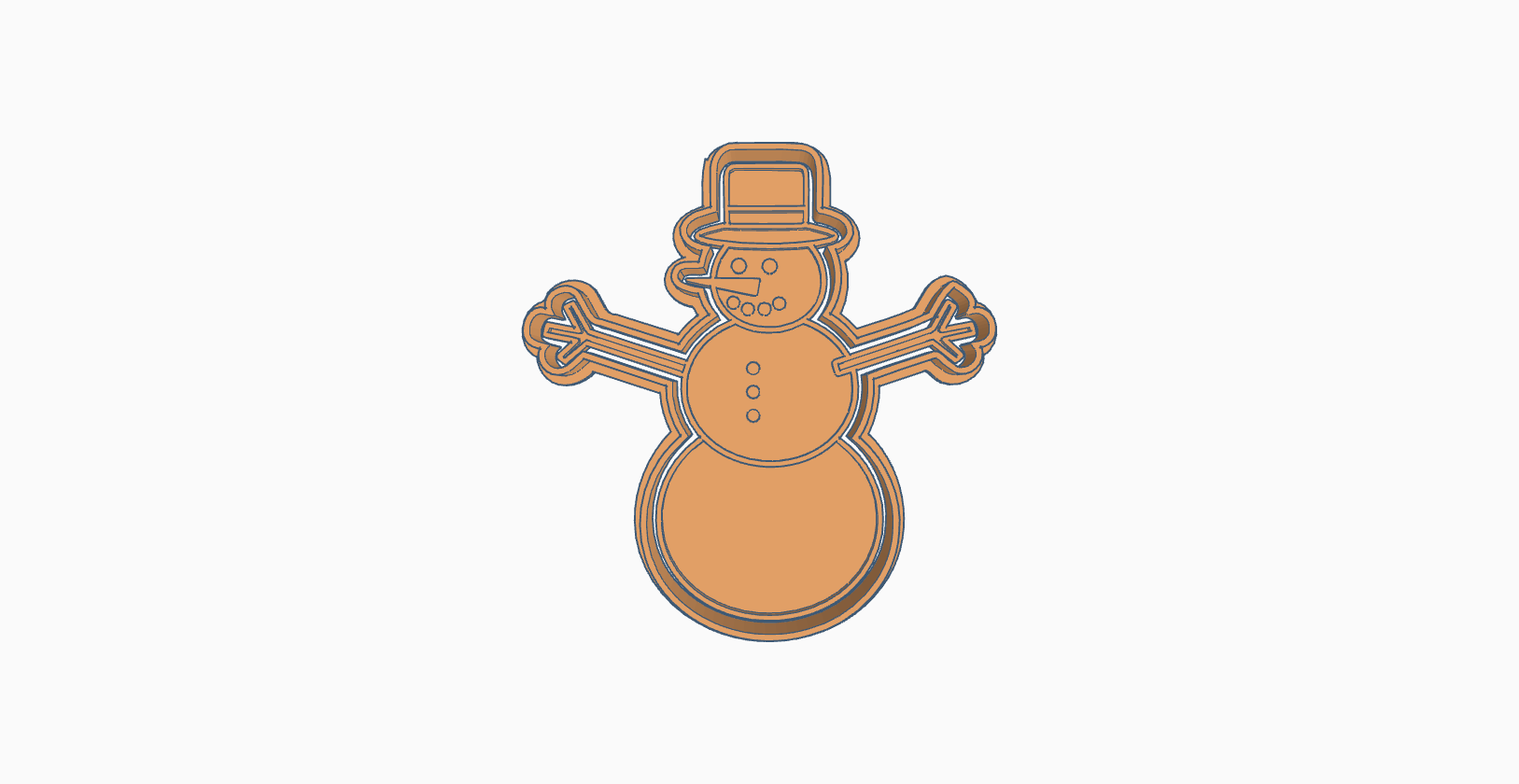 Download Stl File Christmas Snowman Cookie Cutter 3d Printing Model Cults