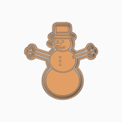 Ingenious Habbi-Jaiks.png Download STL file CHRISTMAS SNOWMAN COOKIE CUTTER • 3D printing model, KDASH