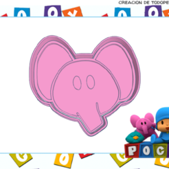 Neat Albar-elly.png Download STL file POCOYO ELLY COOKIE CUTTER • 3D printing template, KDASH