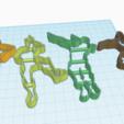 Télécharger plan imprimante 3D FORTNITE DANCING X4 EMPORTE-PIÈCES À BISCUITS, KDASH