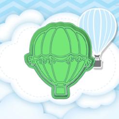 Shiny verd.png Télécharger fichier STL COUPE-BISCUITS EN MONTGOLFIÈRE • Modèle à imprimer en 3D, KDASH
