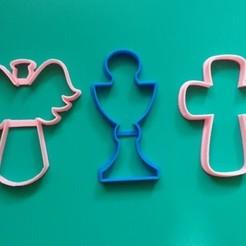 Download 3D printer designs BAPTISM COMMUNION COOKIE CUTTER SET X3 KIT, KDASH