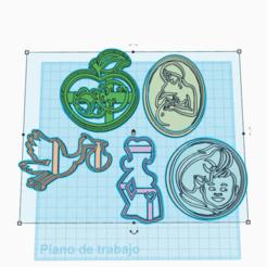 Download STL file PREGNANT COOKIE CUTTER SET X5 • 3D print design, KDASH