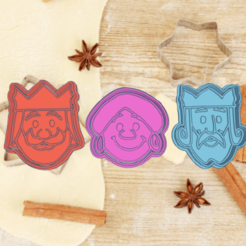 Amazing Juttuli-Wluff.png Download STL file three wise men's day COOKIE CUTTER KIT X3 PACK • 3D print object, KDASH