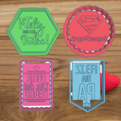 Bodacious Vihelmo (1).png Download STL file FATHER'S DAY KIT X4 COOKIE CUTTERS • Template to 3D print, KDASH