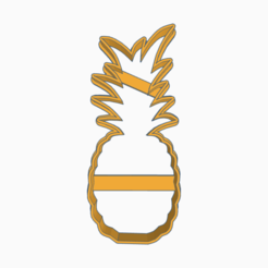 Brilliant Bombul (1).png Download STL file ANANA COOKIE CUTTER FRUIT • Template to 3D print, KDASH