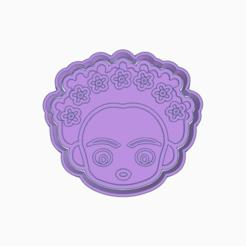 Fantastic Stantia-Frida.png Download STL file FRIDA KAHLO COOKIE CUTTER • Template to 3D print, KDASH