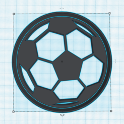 Download STL files BALL COOKIE CUTTER SOCCER, KDASH