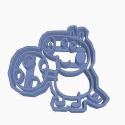 Descargar modelos 3D PEPPA PIG GEORGE COOKIE CUTTER, KDASH